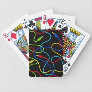 Colorful cables bicycle playing cards