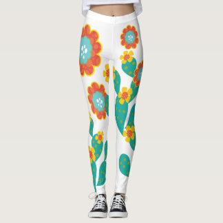 Colorful Cactus Blossom Leggings