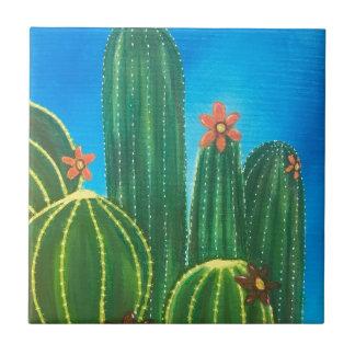 Colorful Cactus Ceramic Tile