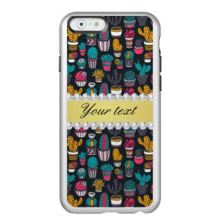 Colorful Cactus Faux Gold Bling Diamonds Incipio Feather® Shine iPhone 6 Case
