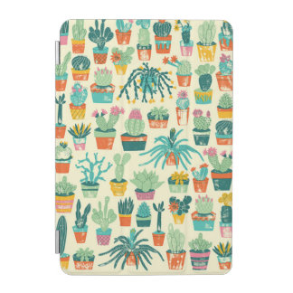 Colorful Cactus Flower Pattern iPad Mini Cover