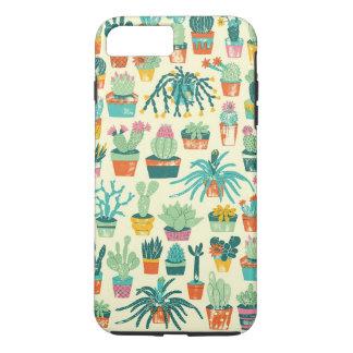 Colorful Cactus Flower Pattern iPhone 7 Plus Case