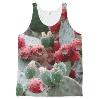 Colorful Cactus Photo All-Over Printed Unisex Vest