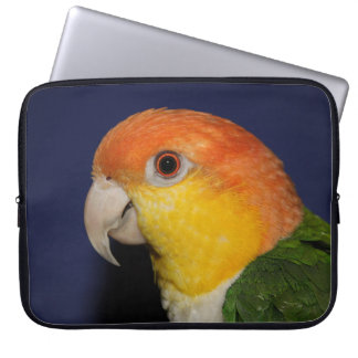 Colorful Caique Parrot Laptop Computer Sleeves