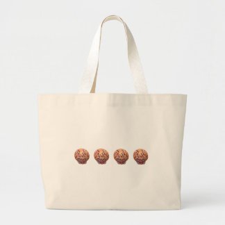 Colorful Calico Scallop Shells Large Tote Bag