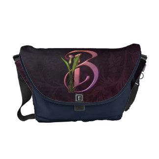 Colorful Calla Initial B Messenger Bags