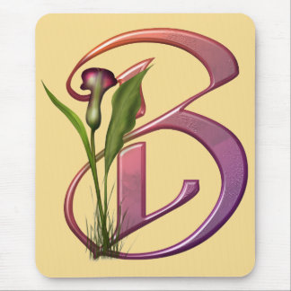 Colorful Calla Initial B Mouse Pad
