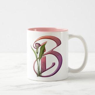 Colorful Calla Initial B Mugs