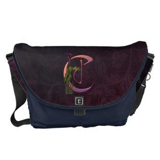 Colorful Calla Initial C Messenger Bag