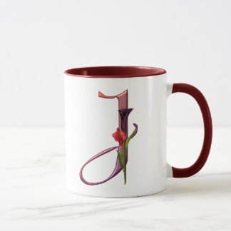 Colorful Calla Initial J