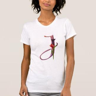 Colorful Calla Initial J T-Shirt