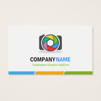 Colorful Camera Shutter Lens - Double Sided Design Business Card