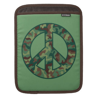 Colorful Camo Peace iPad Sleeve