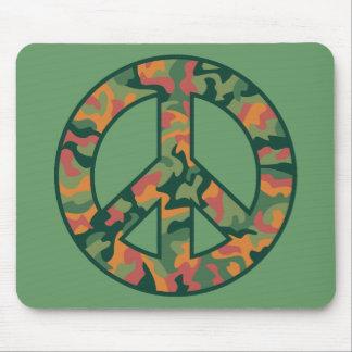 Colorful Camo Peace Mouse Pad