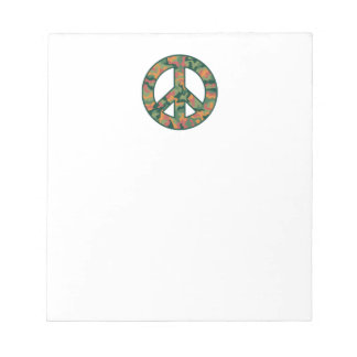 Colorful Camo Peace Notepad