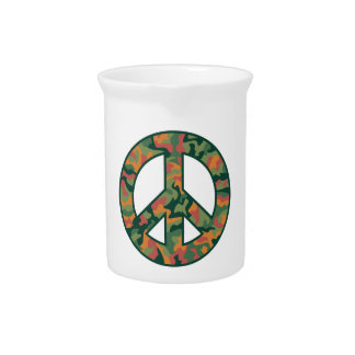Colorful Camo Peace Pitcher