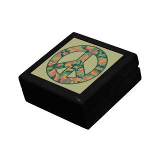 Colorful Camo Peace Small Square Gift Box