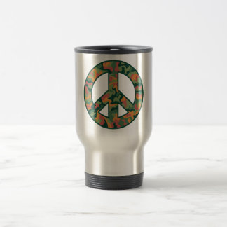 Colorful Camo Peace Travel Mug