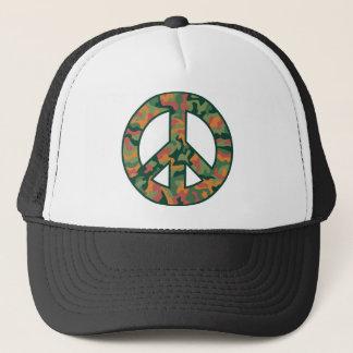 Colorful Camo Peace Trucker Hat
