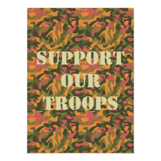 Colorful Camouflage 14 Cm X 19 Cm Invitation Card
