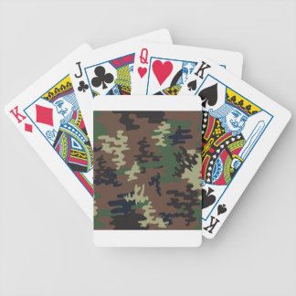 Colorful Camouflage seamless pattern Bicycle Playing Cards