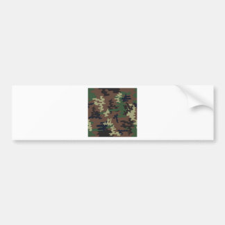 Colorful Camouflage seamless pattern Bumper Sticker