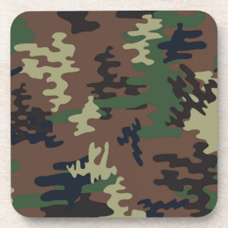 Colorful Camouflage seamless pattern Drink Coasters