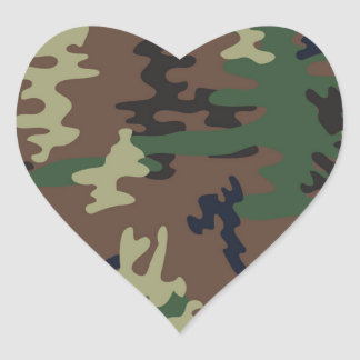 Colorful Camouflage seamless pattern Heart Sticker