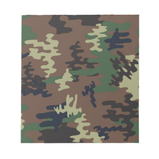 Colorful Camouflage seamless pattern Notepad