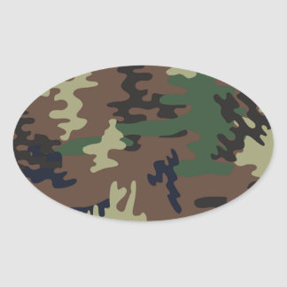 Colorful Camouflage seamless pattern Oval Sticker