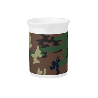 Colorful Camouflage seamless pattern Pitcher