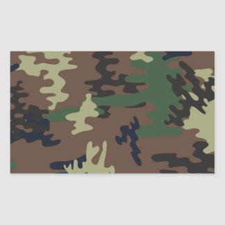 Colorful Camouflage seamless pattern Rectangular Sticker
