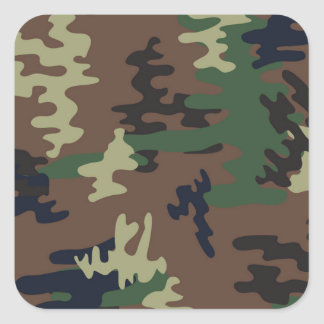 Colorful Camouflage seamless pattern Square Sticker
