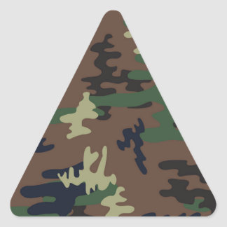 Colorful Camouflage seamless pattern Triangle Sticker