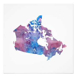 Colorful Canada Silhouette Photo Print