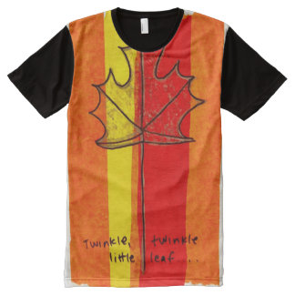 Colorful Canada Watercolor Gouache Collage All-Over Print T-Shirt