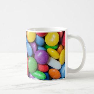Colorful candies coffee mugs