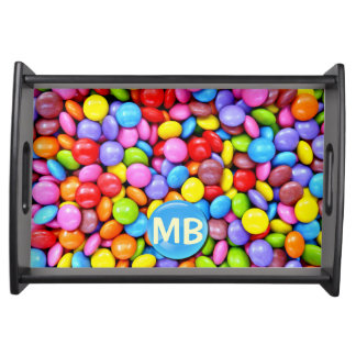 Colorful Candies Personalize Photo Serving Platter