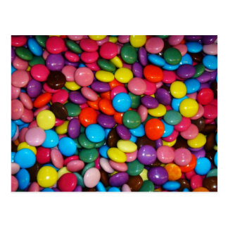 Colorful candies postcard