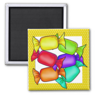 Colorful Candies Square Magnet