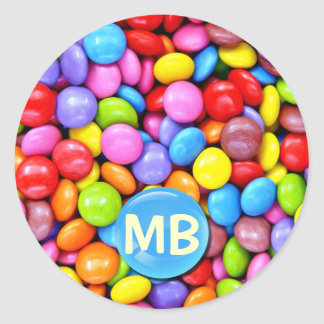 Colorful Candies Classic Round Sticker
