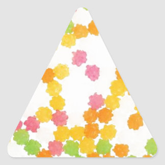 Colorful Candies Triangle Sticker