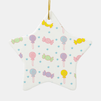 Colorful Candy and Stars Ceramic Star Decoration