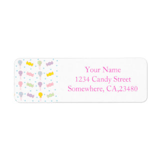 Colorful Candy and Stars Return Address Label