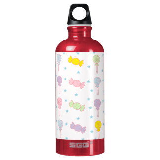 Colorful Candy and Stars Water Bottle
