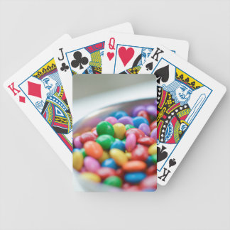 colorful candy bicycle playing cards