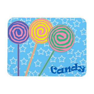 Colorful candy illustration magnet
