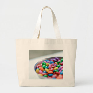 colorful candy large tote bag