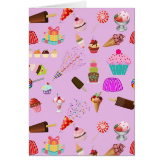 Colorful Candy Party Pattern Card