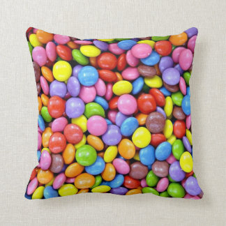 Colorful Candy Pieces Throw Pillow